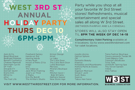 We challenge our super-shoppers to hit all of these parties in one night. Any takers?