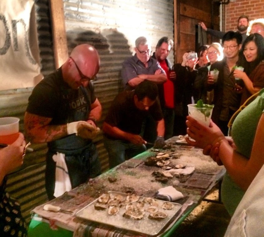 Houston's industry professionals showed off their oyster shucking skills at Julep.