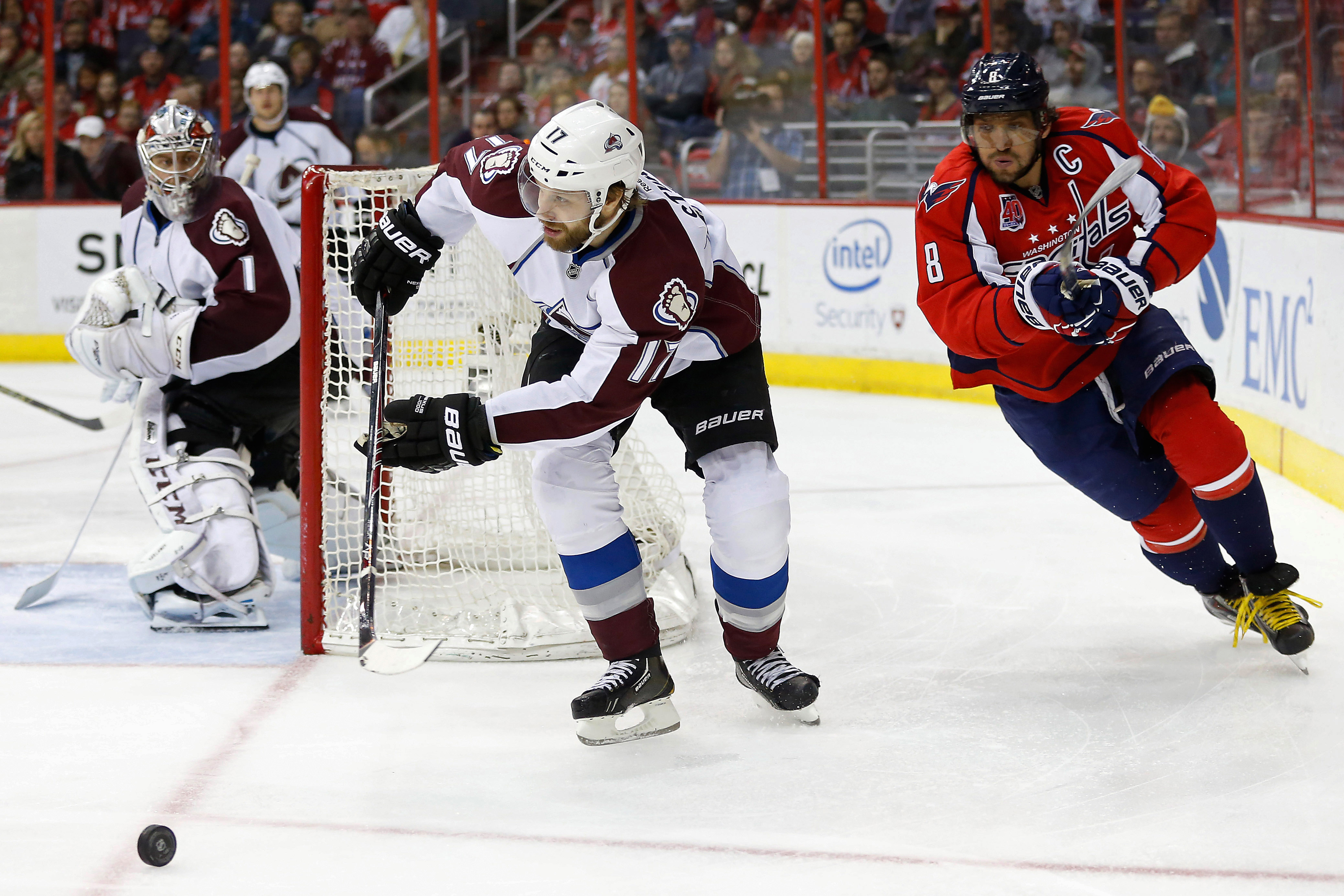 Alex Ovechkin and Semyon Varlamov, pictured here dangerously close to a possible black hole