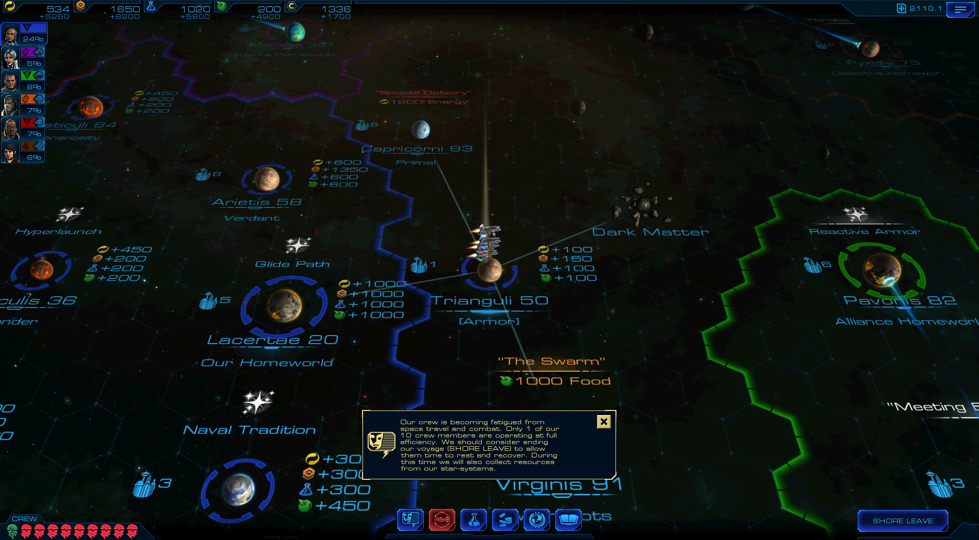 Sid Meier's Starships is all about ship customization, tactical combat