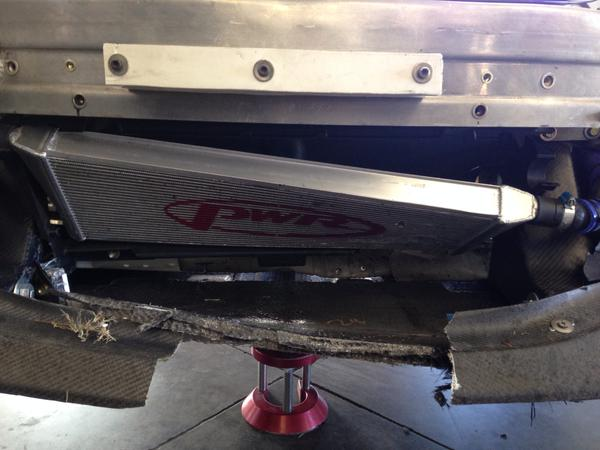 This is what happens when a race car hits an opossum