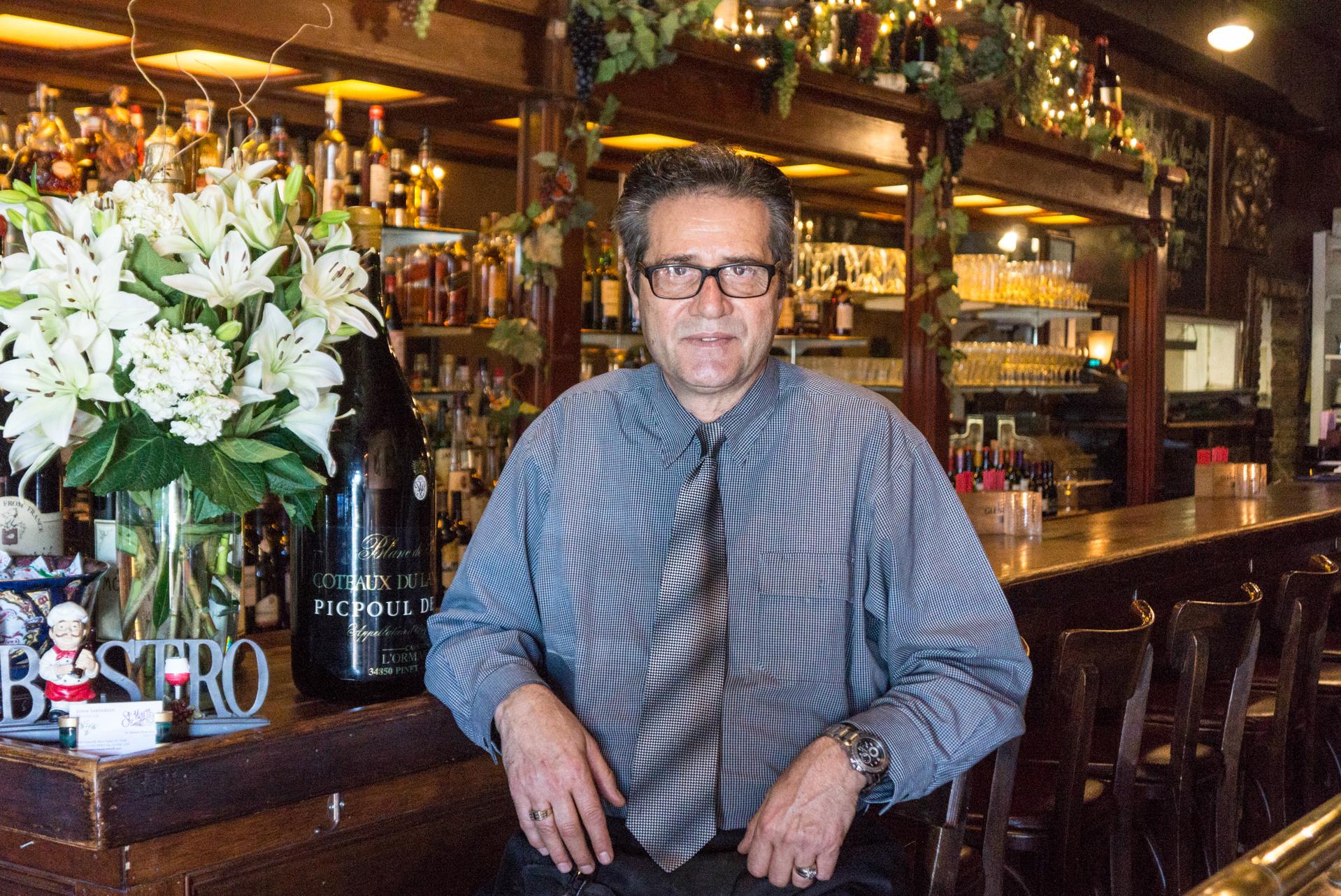 St. Martin's general manager John Sarkarian at the bar.