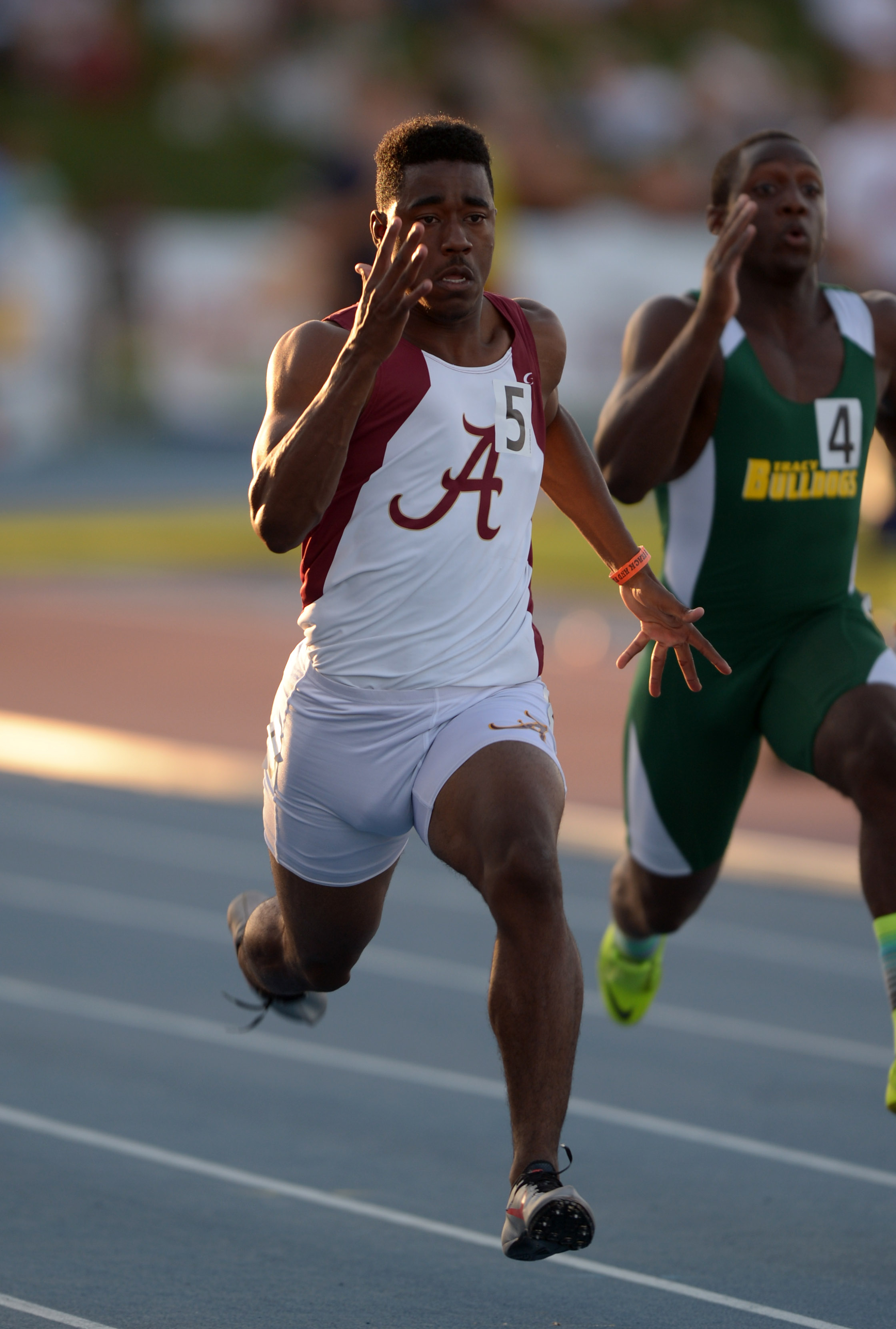Dominic Davis has elite speed that he shows on the track and the football field.