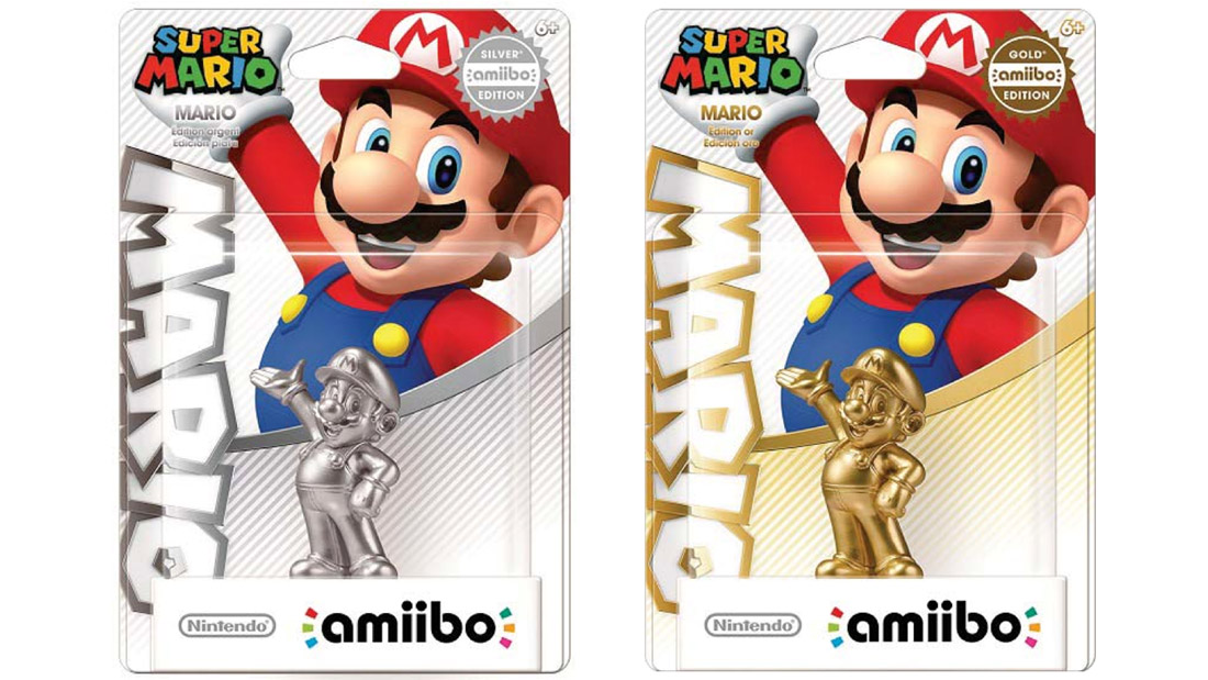 Nintendo's getting into the variant game with gold and silver Mario amiibo