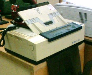 I'm a fax machine and I'm happy!