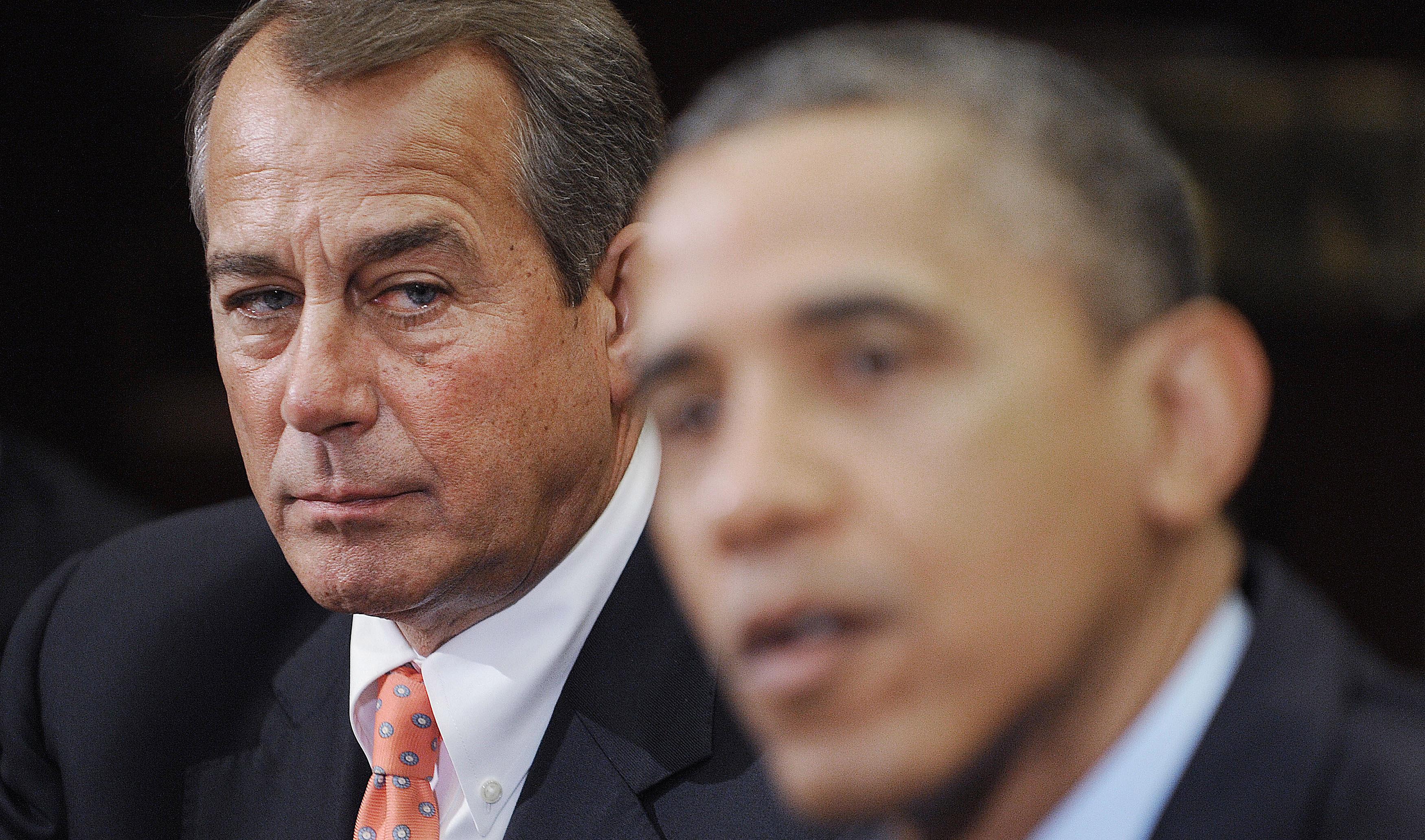 John Boehner, the Republican House Speaker, and President Barack Obama.