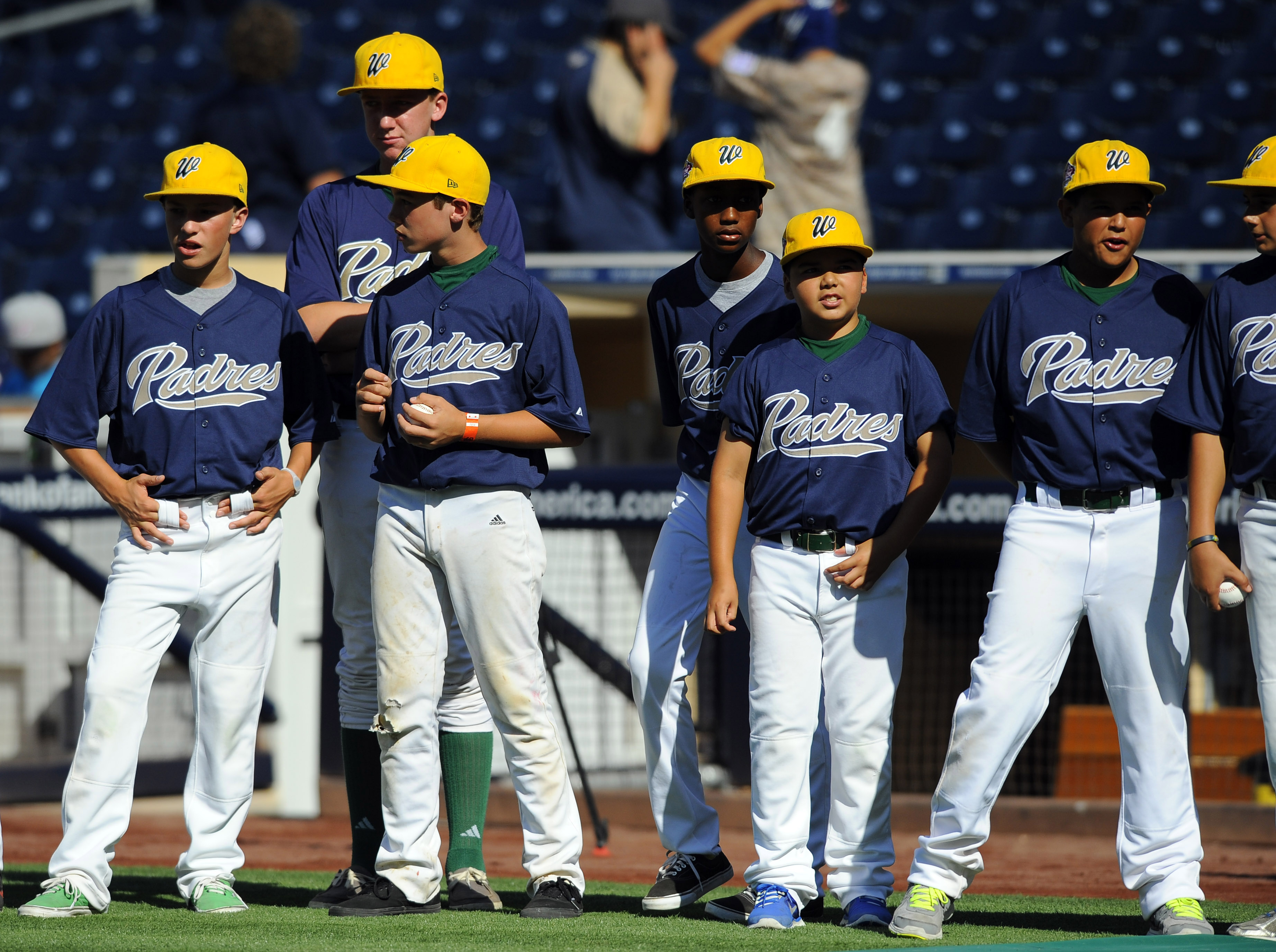 The Padres will be distributing their hugely popular Little League uniforms on Sunday.