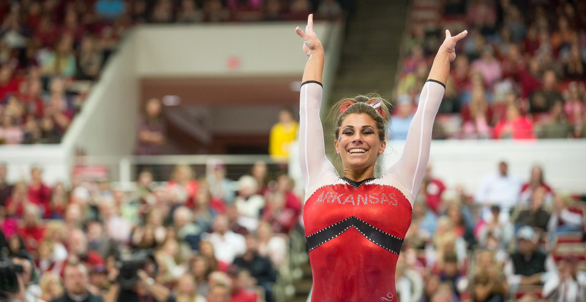 Freshman Paige Zazisky took home two event titles as one of the night's bright spots for the Gymbacks