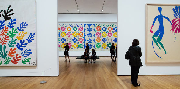 """Photo: <a href=""""http://artsbeat.blogs.nytimes.com/2015/02/05/moma-cuts-out-closing-hours-for-last-look-at-matisse-show/?_r=0"""">The New York Times</a>"""