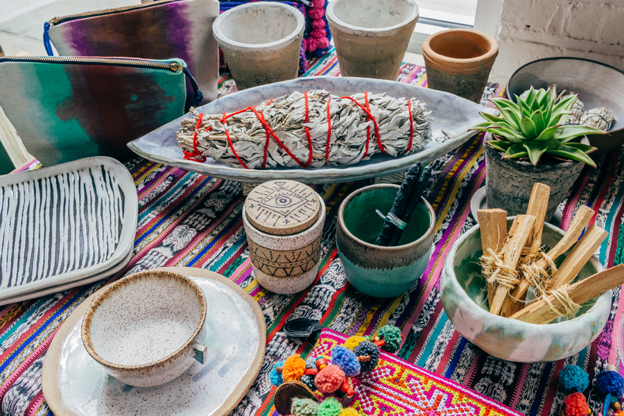Sage bundles and Palo Santo sticks at People of 2Morrow; Photo: Driely S.