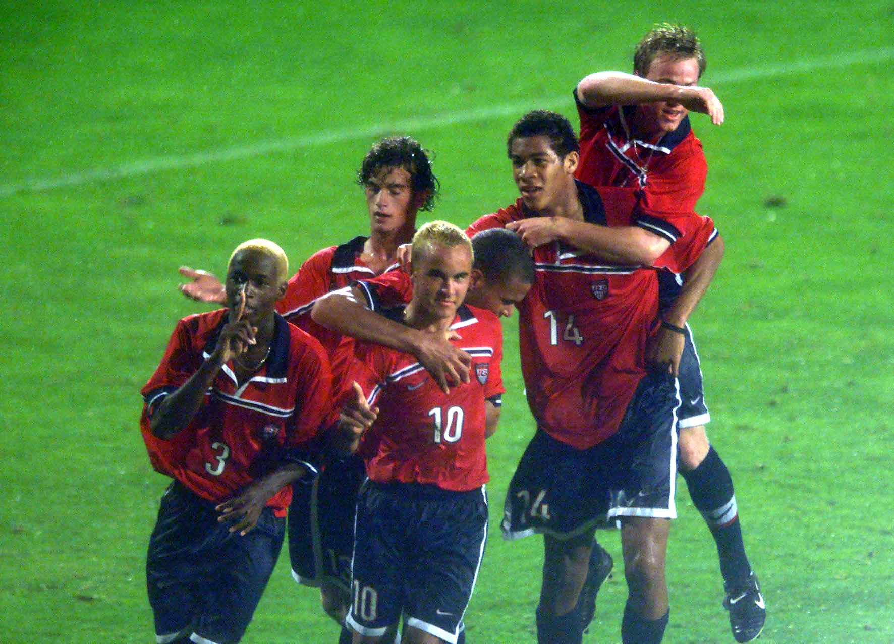 The U.S. U-17 national team of days gone by, with a few notable faces.