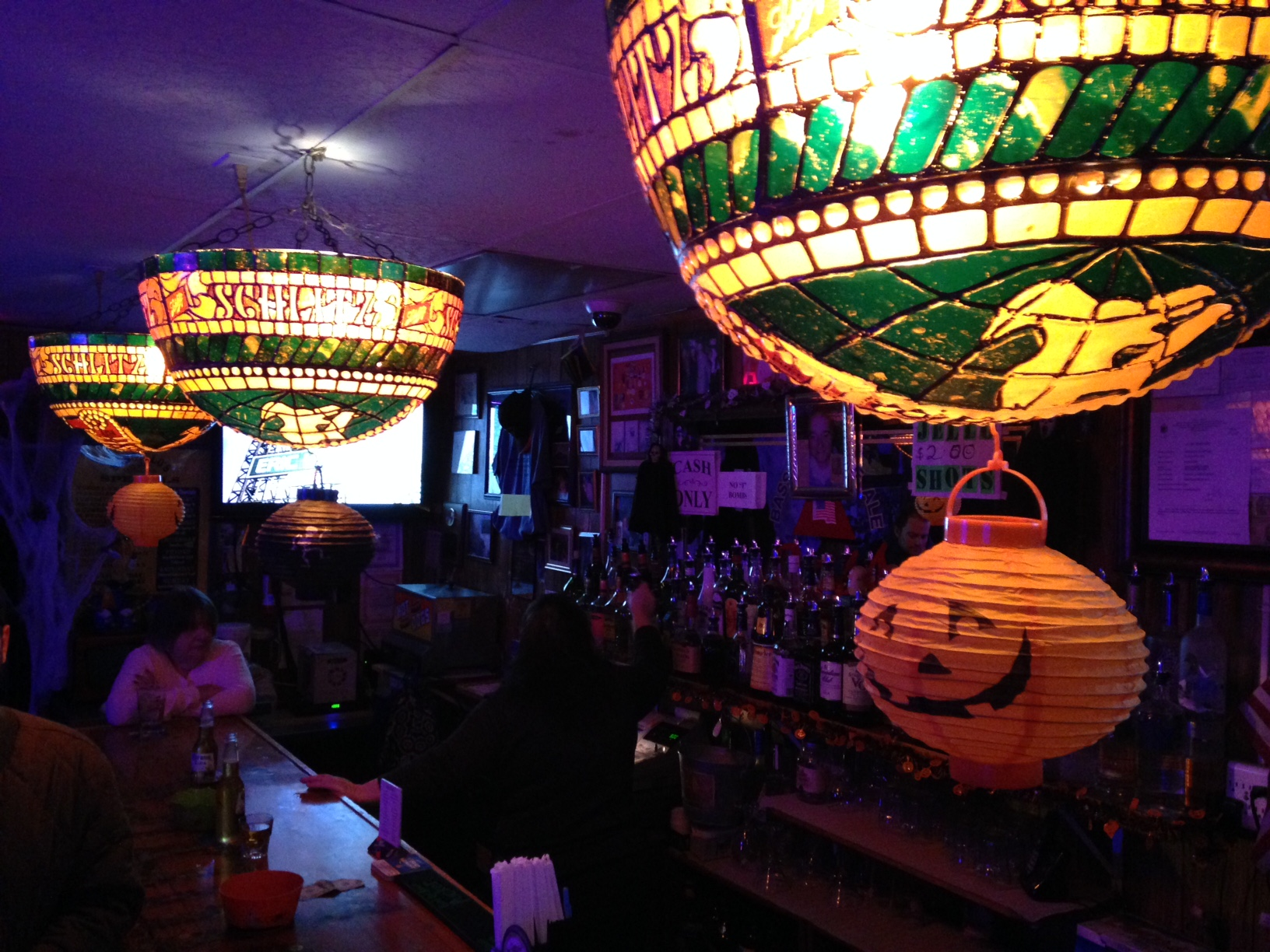 Sangillo's decorated festively for Halloween.