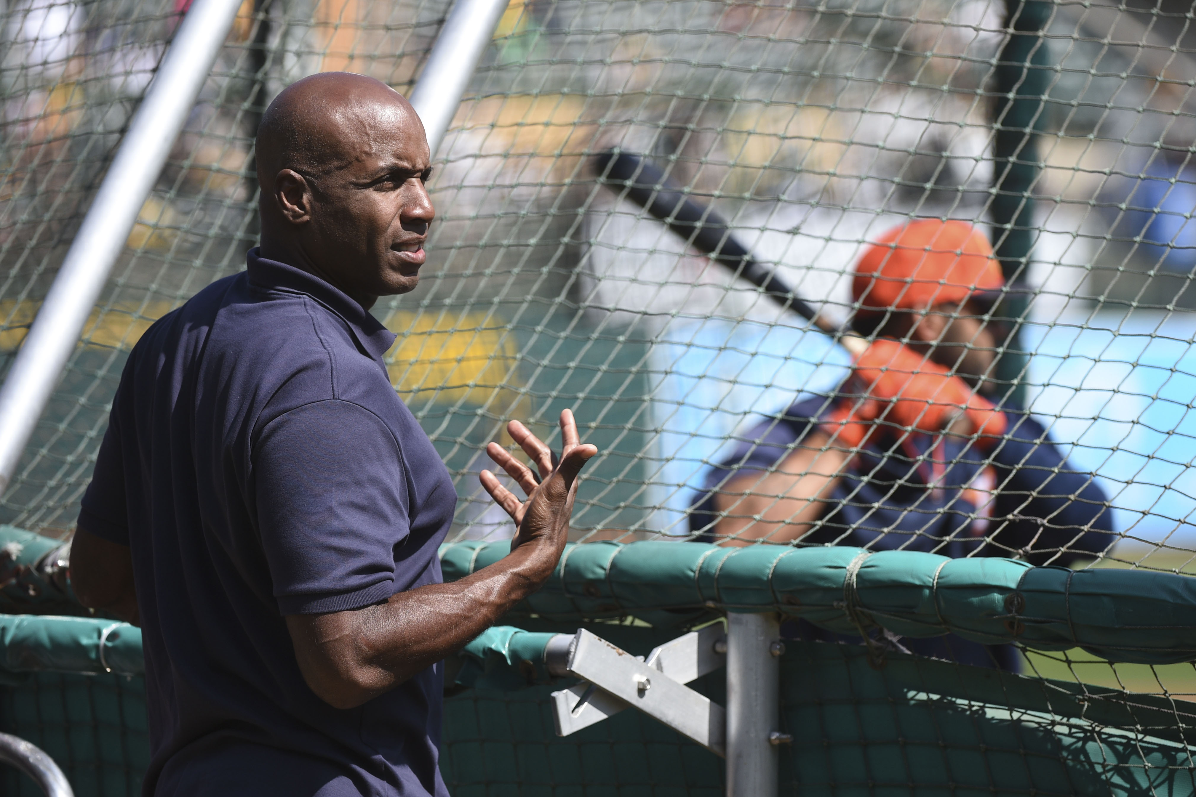Here is Barry at an Astros-A's game, helping Dexter Fowler be a destroyer of worlds. Let's ignore that Fowler was 0-4 that day.