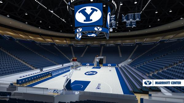 New video boards and completion of the lower bowl chair upgrade were part of BYU's basketball improvement press conference.