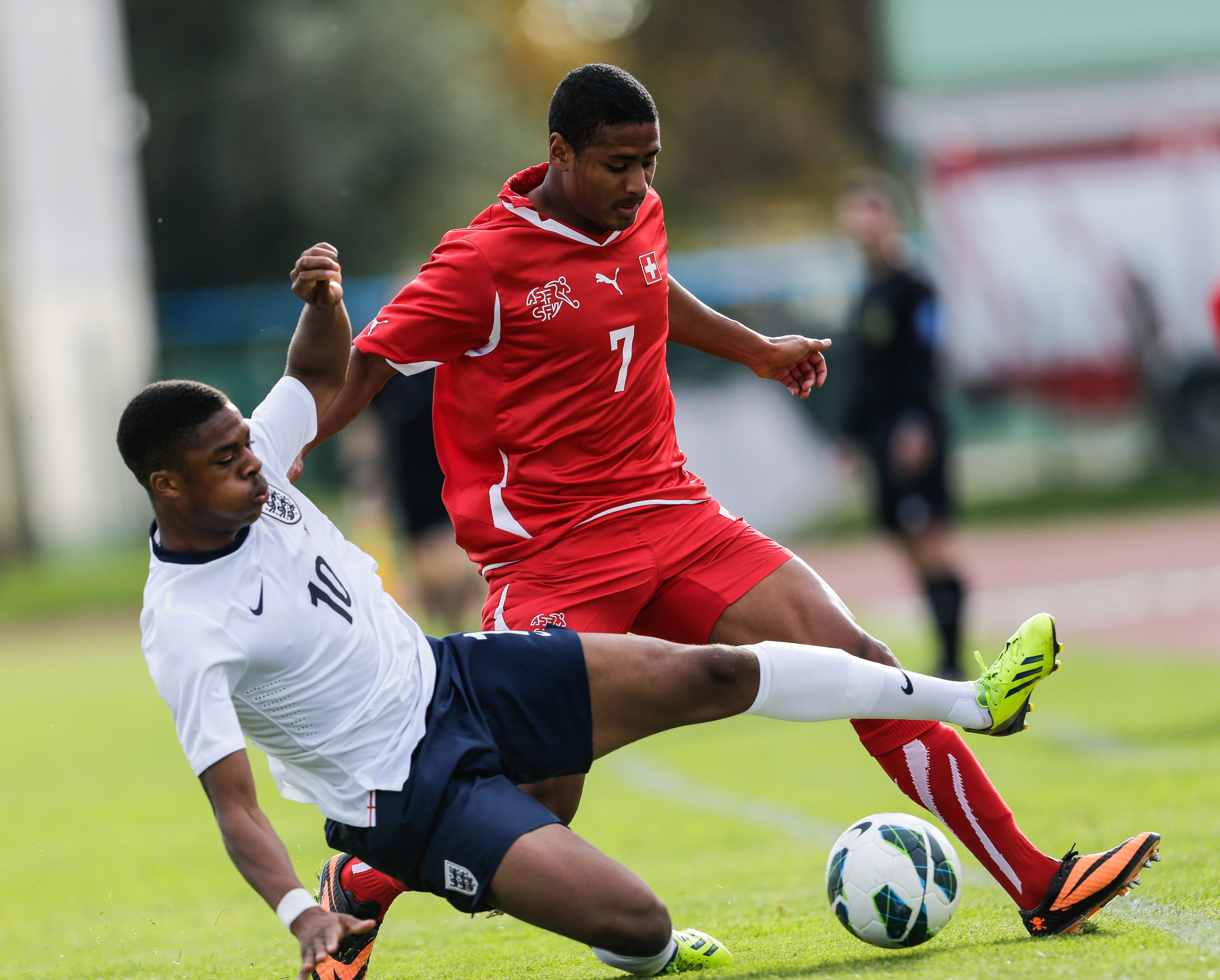 Saidy Janko (right) put in a man-of-the-match performance on his professional debut