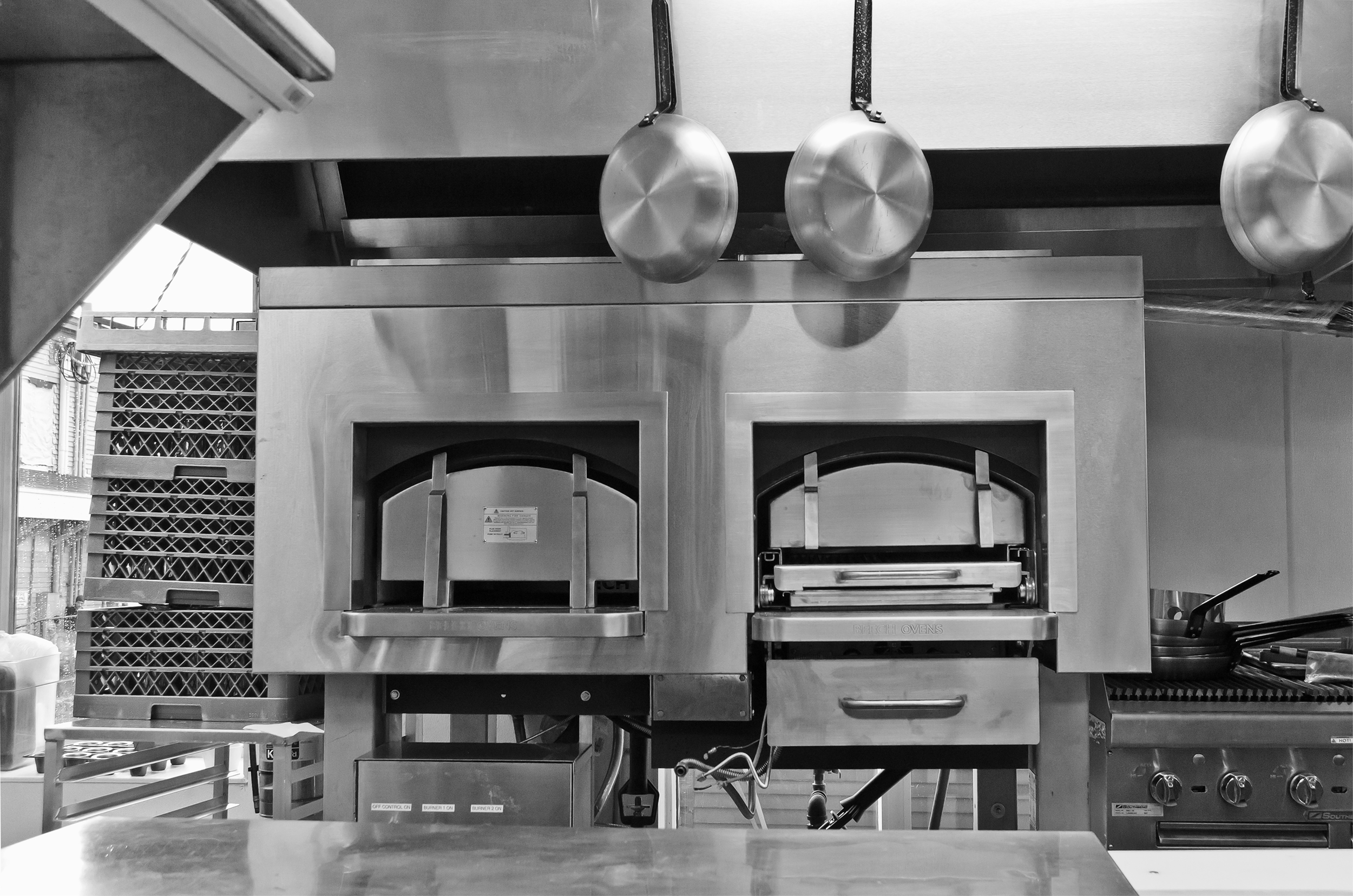 The kitchen at Ebb and Flow, Portland.