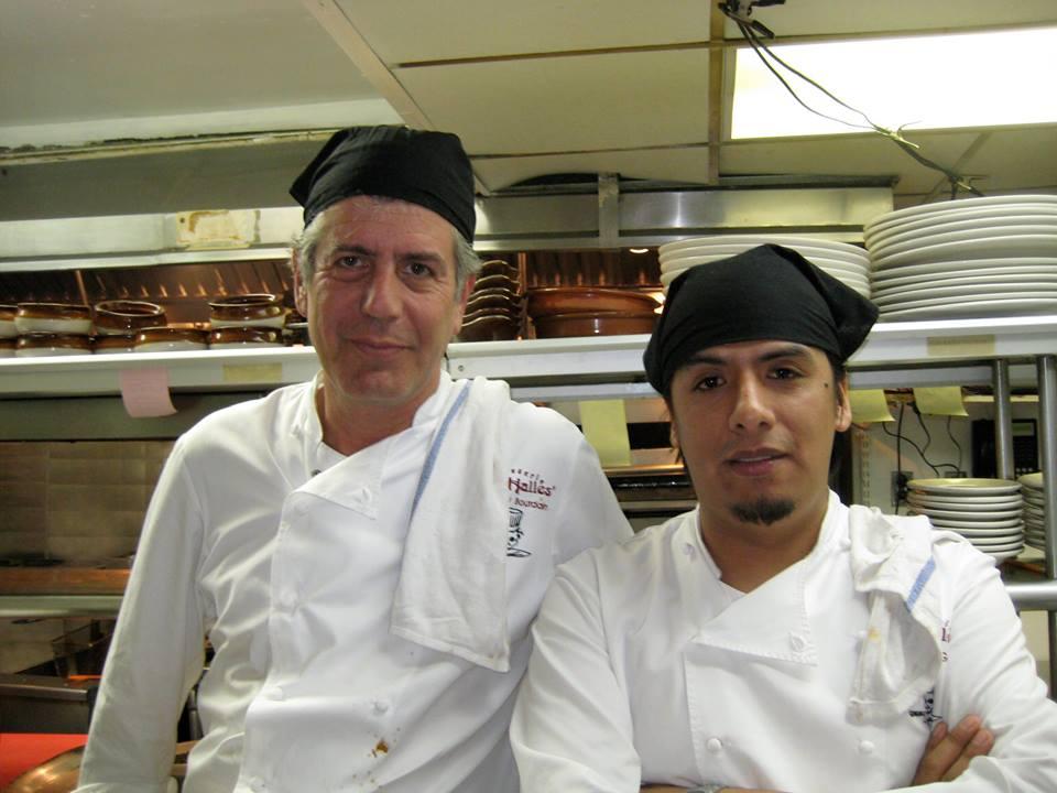 Anthony Bourdain and Carlos Llaguno Garcia