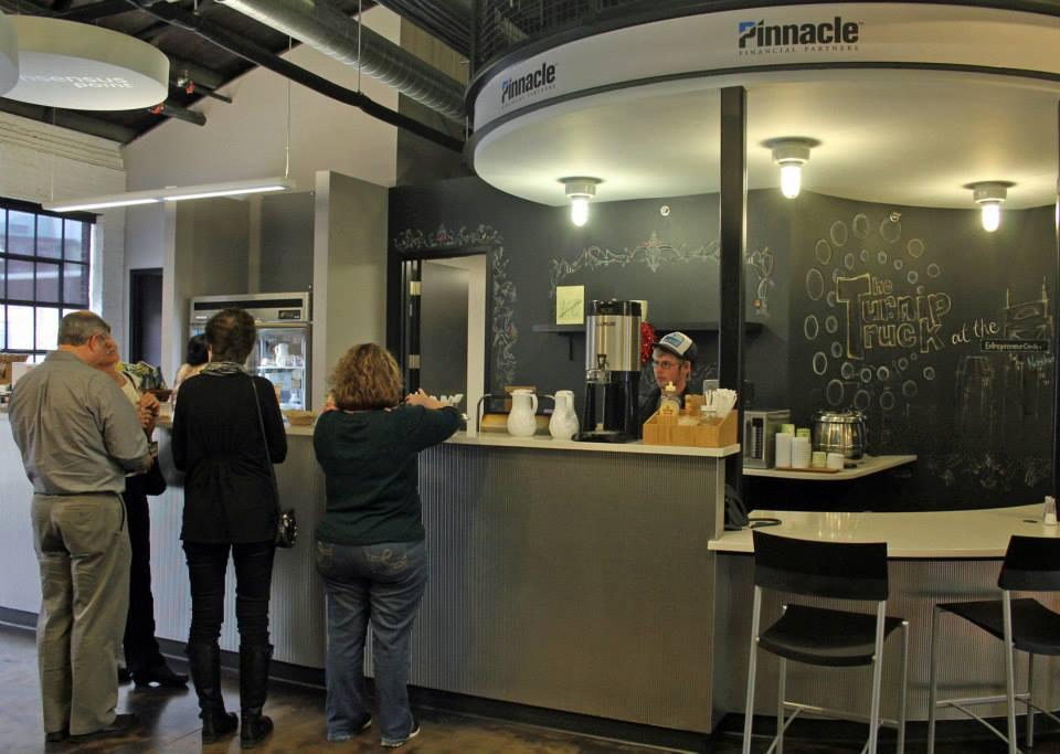 The Turnip Truck Cafe inside the Entrepreneur Center.