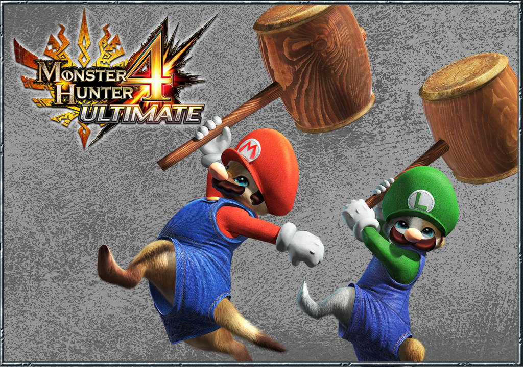 How to get Mario and Luigi outfits for your cat in Monster Hunter 4 Ultimate