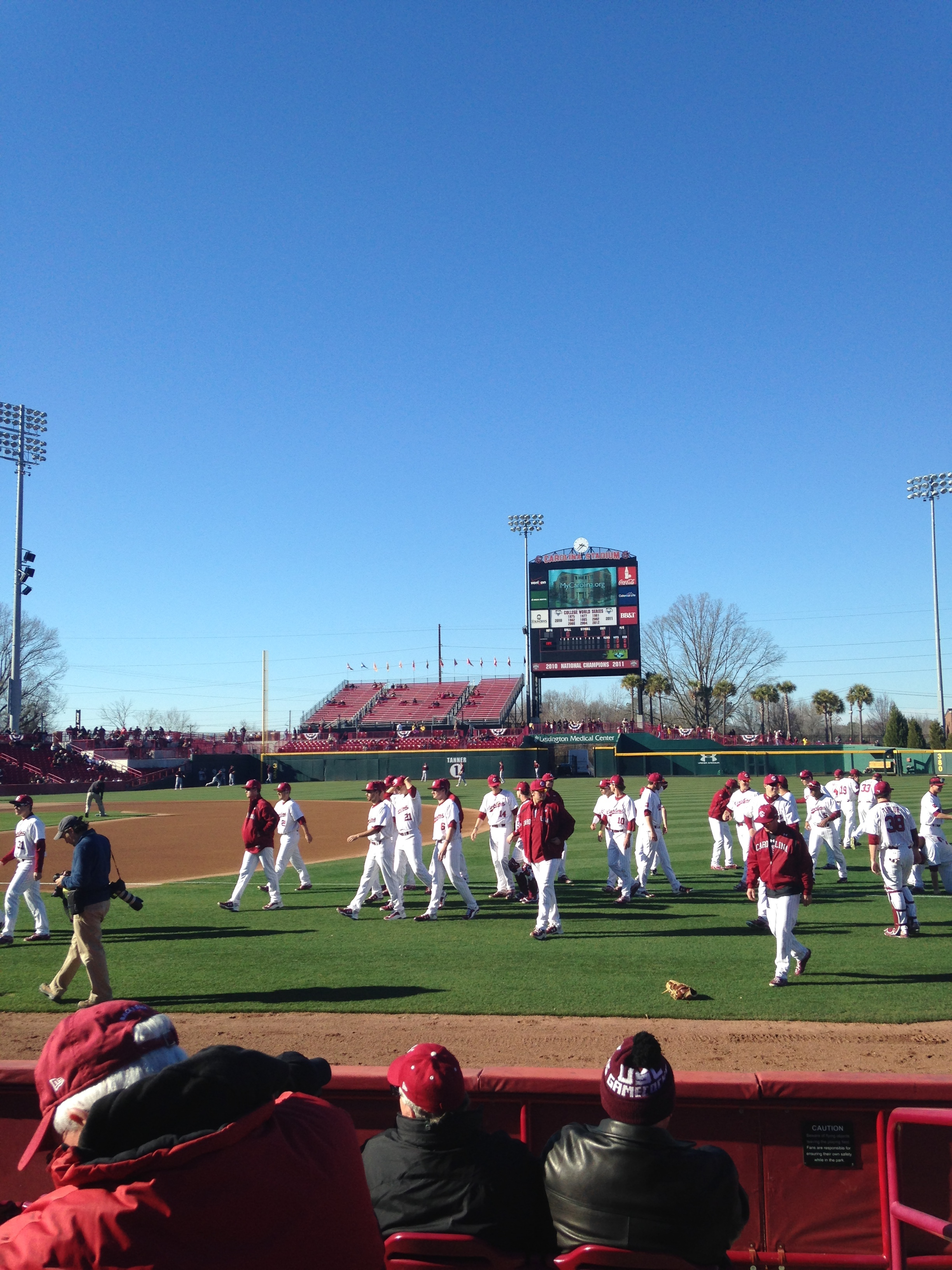 A beautiful afternoon for baseball in Columbia, SC