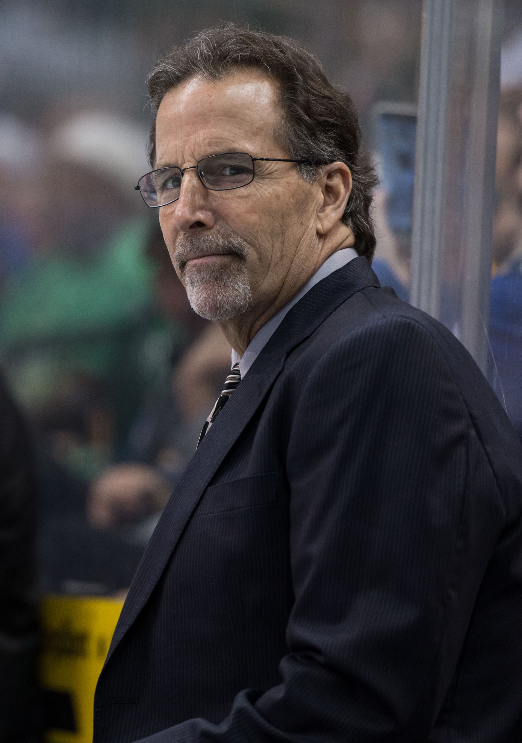 """Former Lightning head coach John Tortorella was at Amalie Arena Sunday to participate in """"Hockey Day in Tampa Bay"""" activities."""