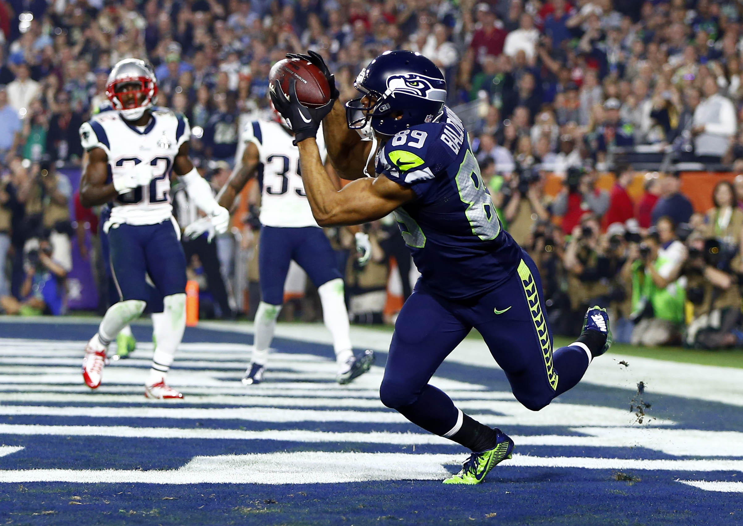 Doug Baldwin pretended to poop out a football at the Super Bowl because of Darrelle Revis