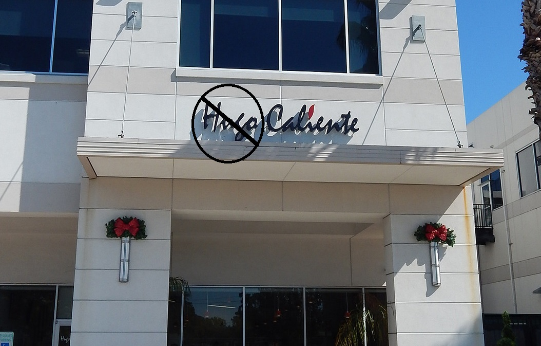 Don't call Chris Smitty's casual Tex-Mex restaurant Hugo Caliente anymore.