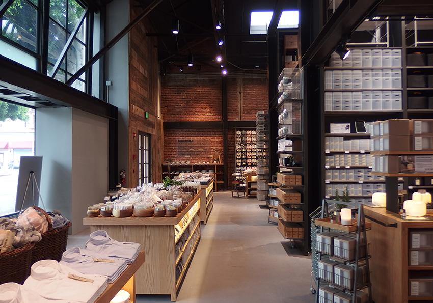 Inside Muji's newest location in Santa Monica. Courtesy photo