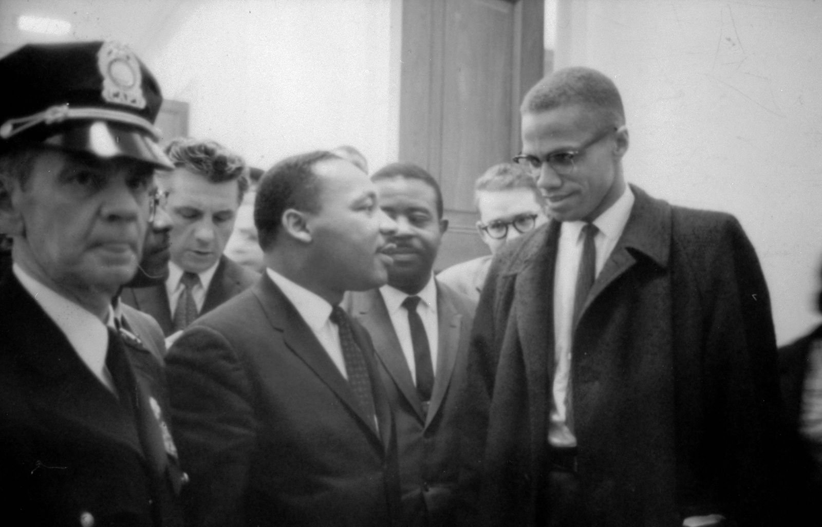 Malcolm X and Martin Luther King Jr. in 1964.