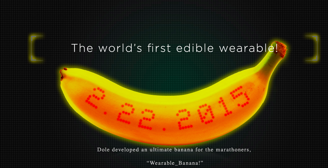 Dole Invents Edible Fitness Tracker Made From an Actual Banana