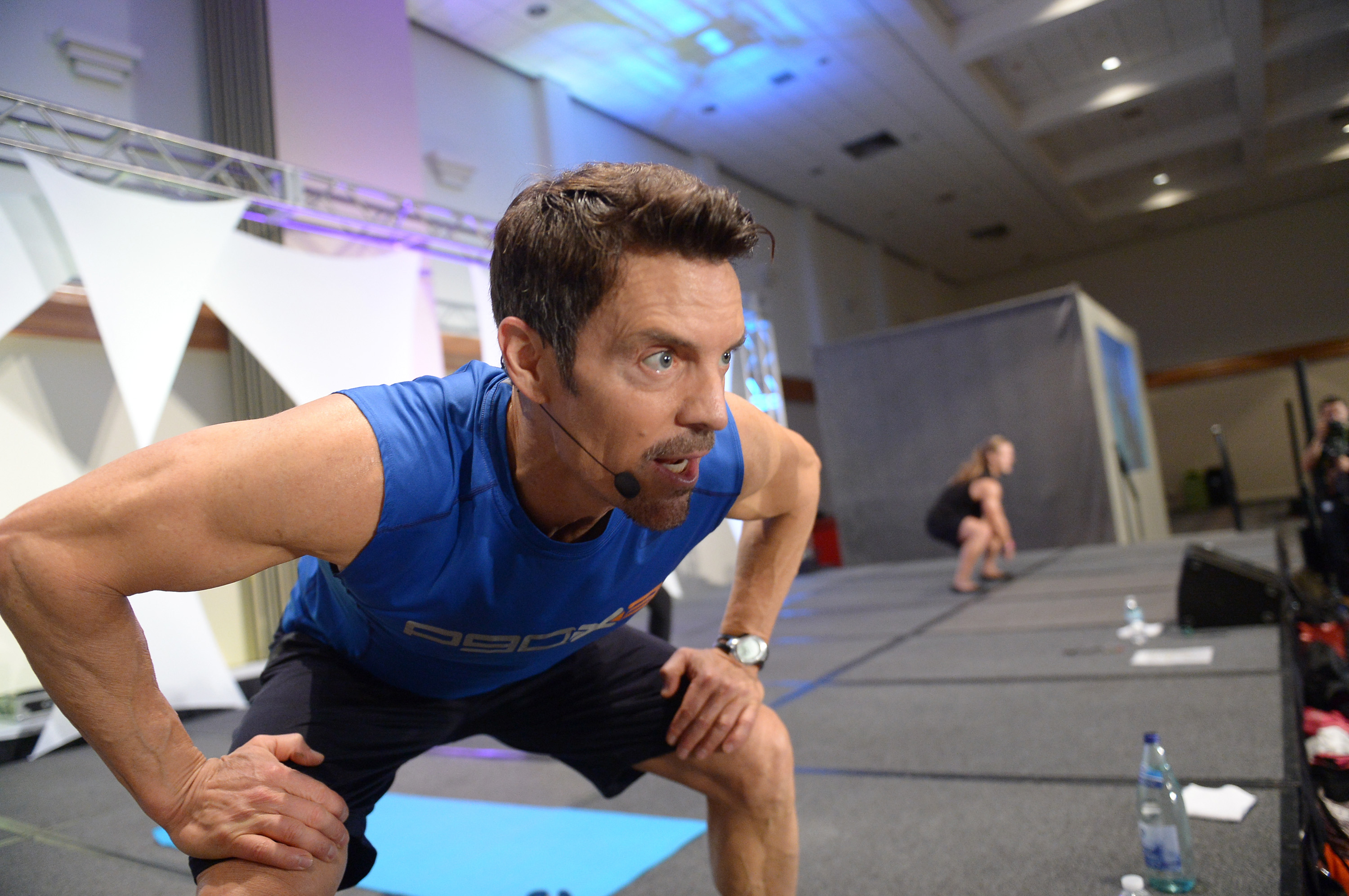 Tony Horton leads a workout at the All-Star Fitness Festival. Photo: Getty Images