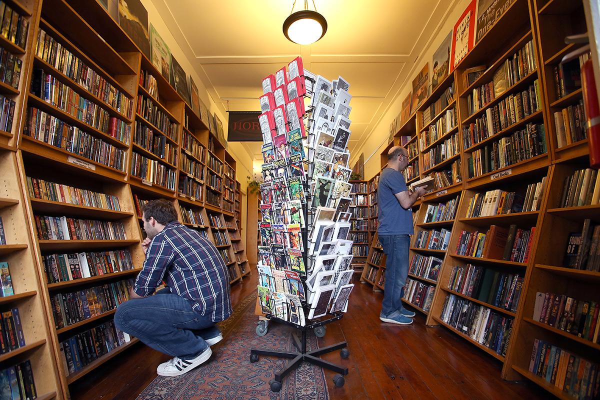 "Borderlands Books. Photo via Mike Koozmin/<a href=""http://www.sfexaminer.com/"">SF Examiner</a>"