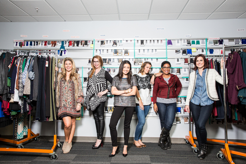 """Stitch Fix founder and CEO Katrina Lake with her team; photos by <a href=""""http://aubriepick.com"""">Aubrie Pick</a></span></p>"""