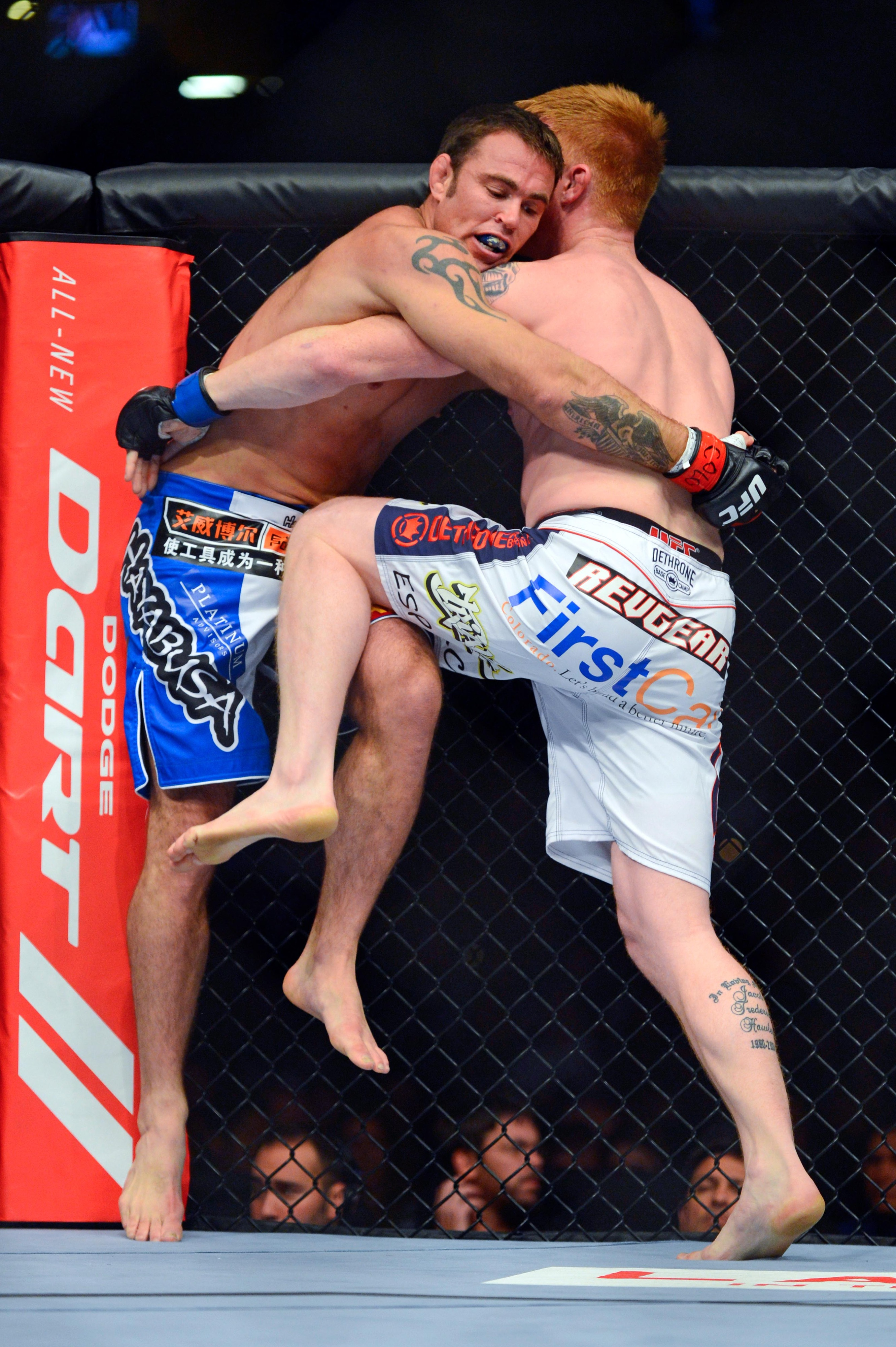 """This is Jake Shields """"giving it his all."""""""