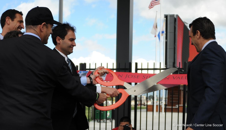 Avaya Stadium ribbon cutting ceremony