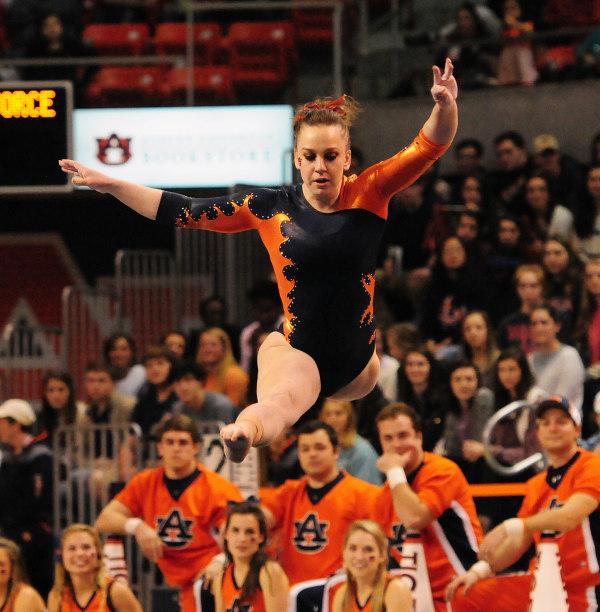 Caitlin Atkinson Air Force vs Auburn Gymnastics on Friday, January 30, 2014 in Auburn, Ala.