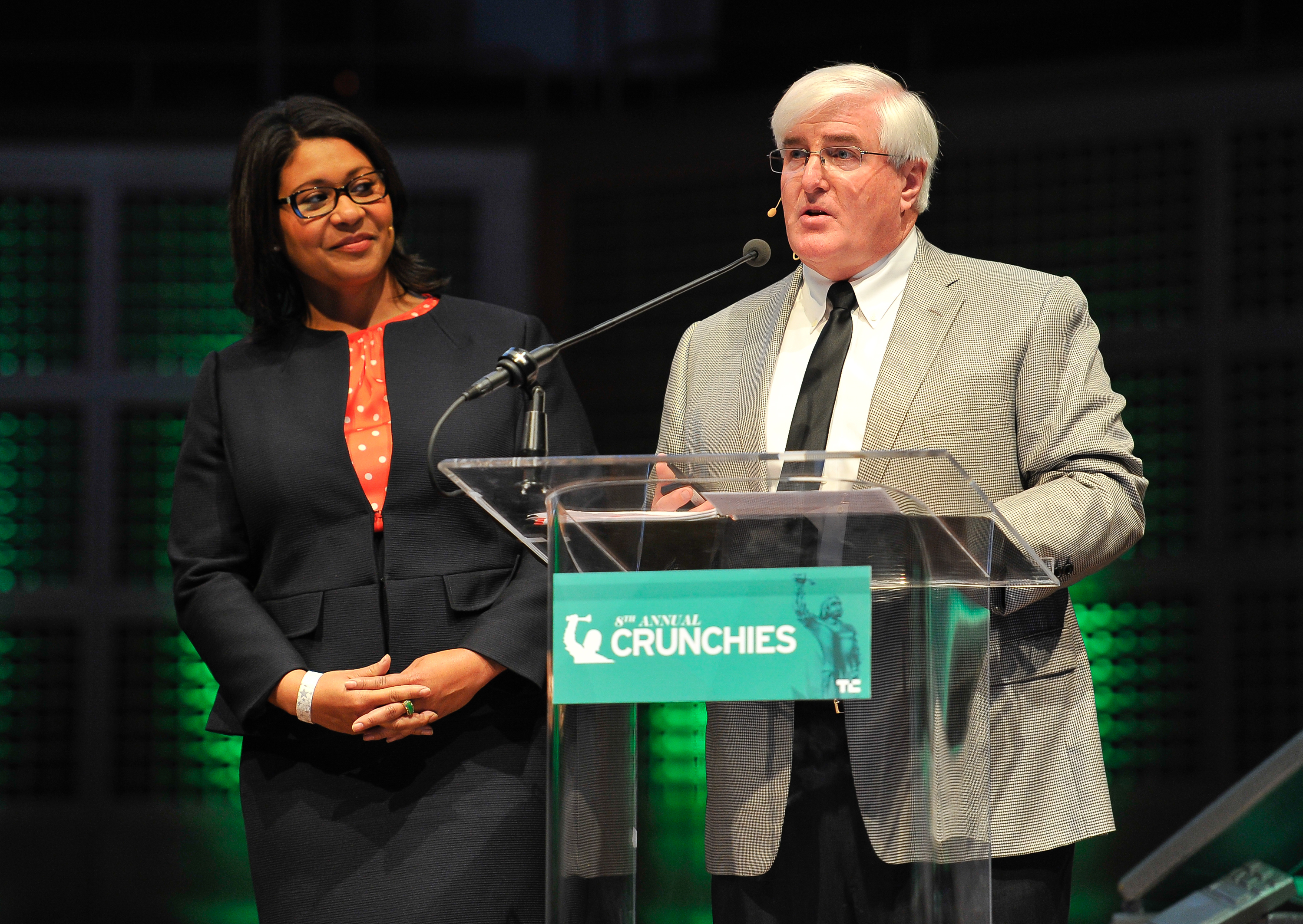 London Breed (left) at the 2015 Crunchies. Getty