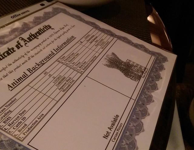 Kabocha's Certificate