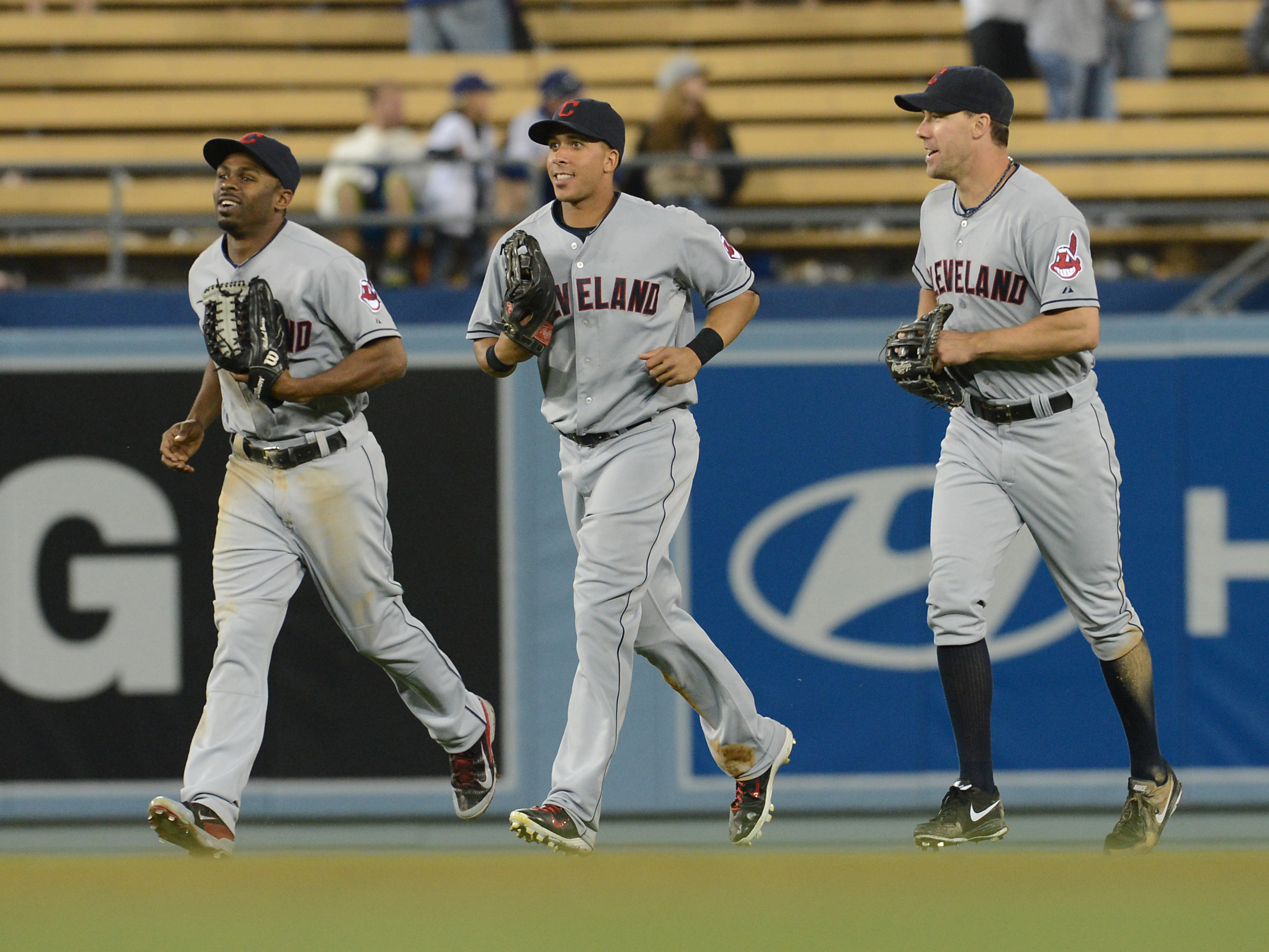 The main Tribe outfield in 2014