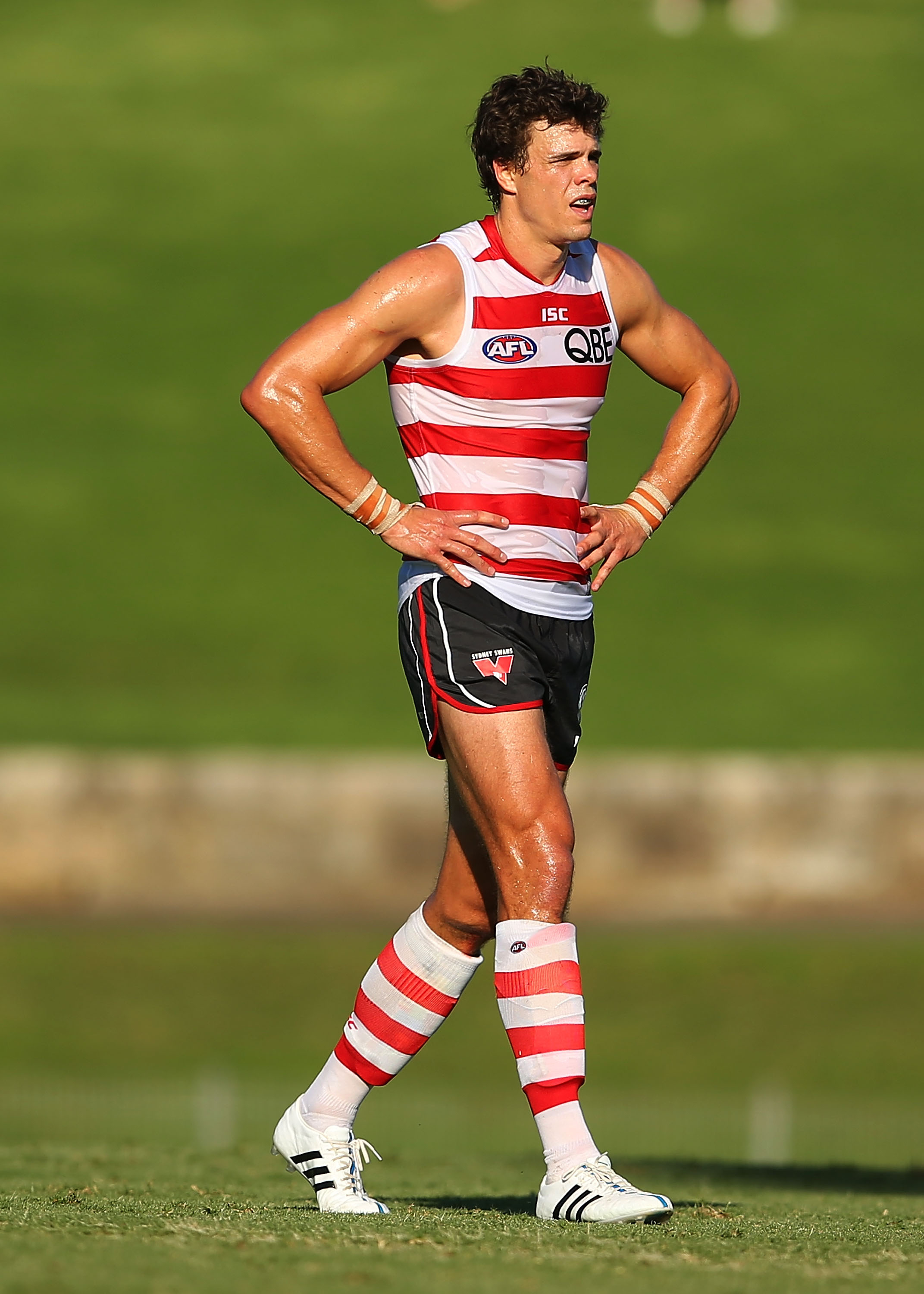 Aussie Rules Football star Mike Pyke is among the straight athletes who will march in the parade.