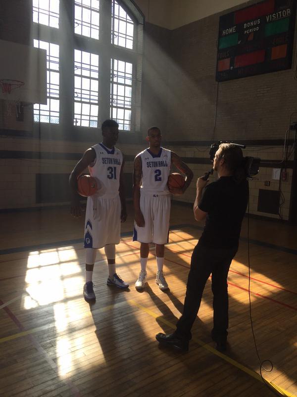 Angel Delgado and Brandon Mobley pose for the camera.