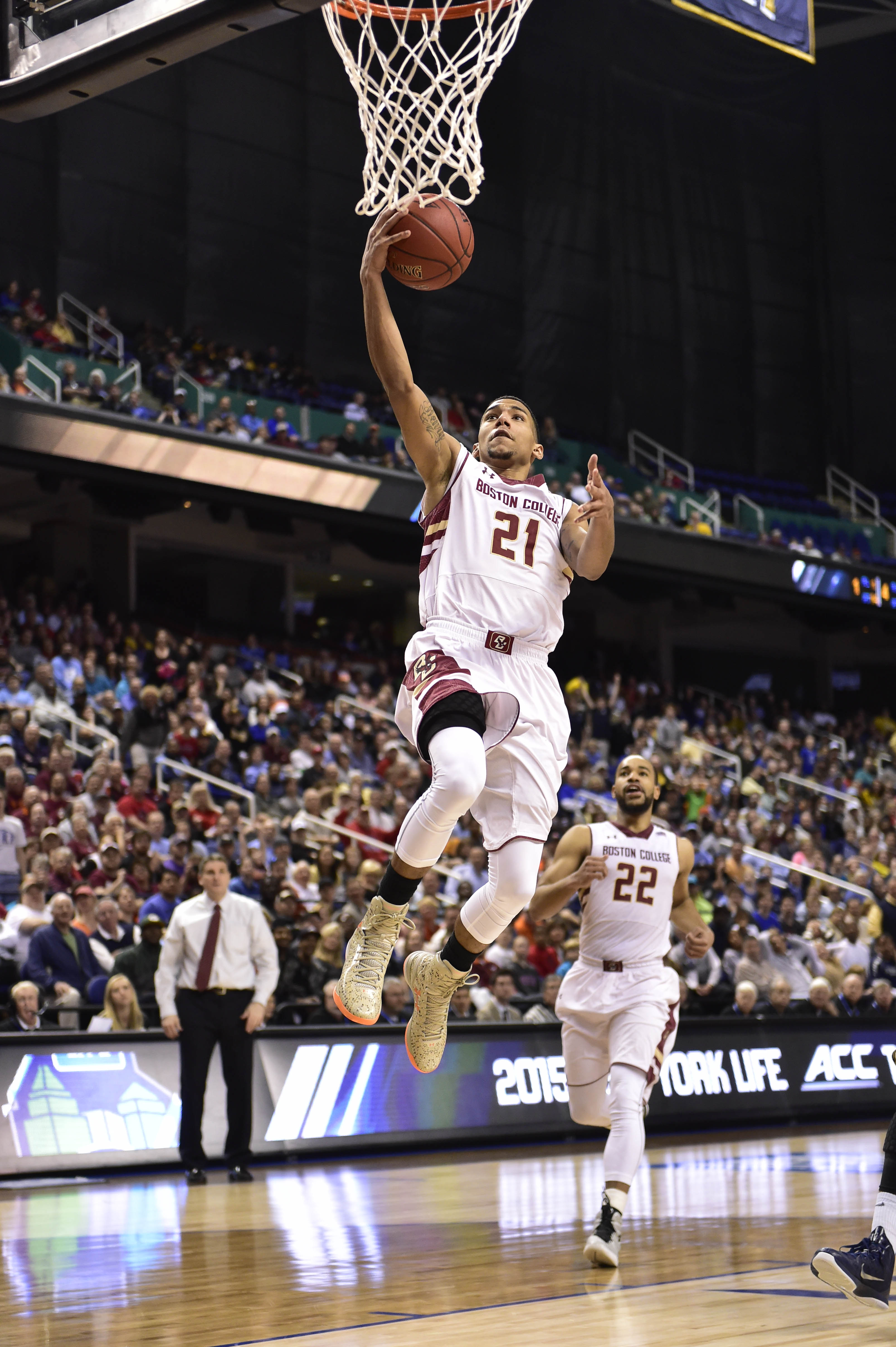 Olivier Hanlan glides in for the game winner in Day 1 ACC Tournament action