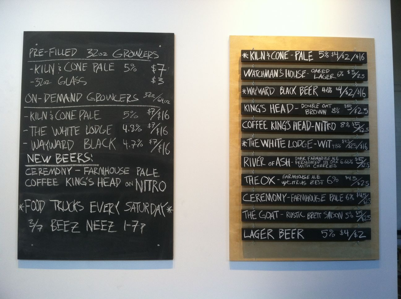 Holy Mountain's ever-rotating beer selection.