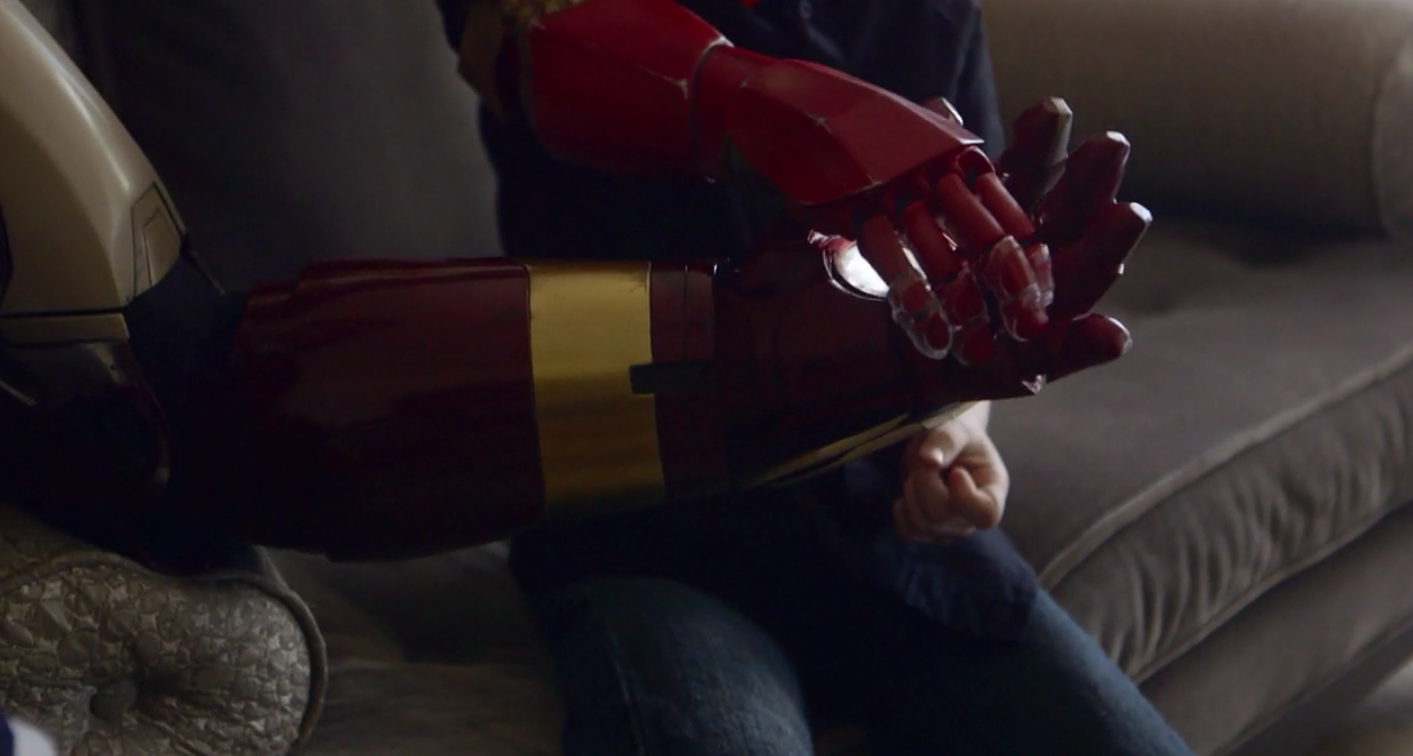 Watch Iron Man hand-deliver a child's 3D-printed, bionic arm and try not tear up