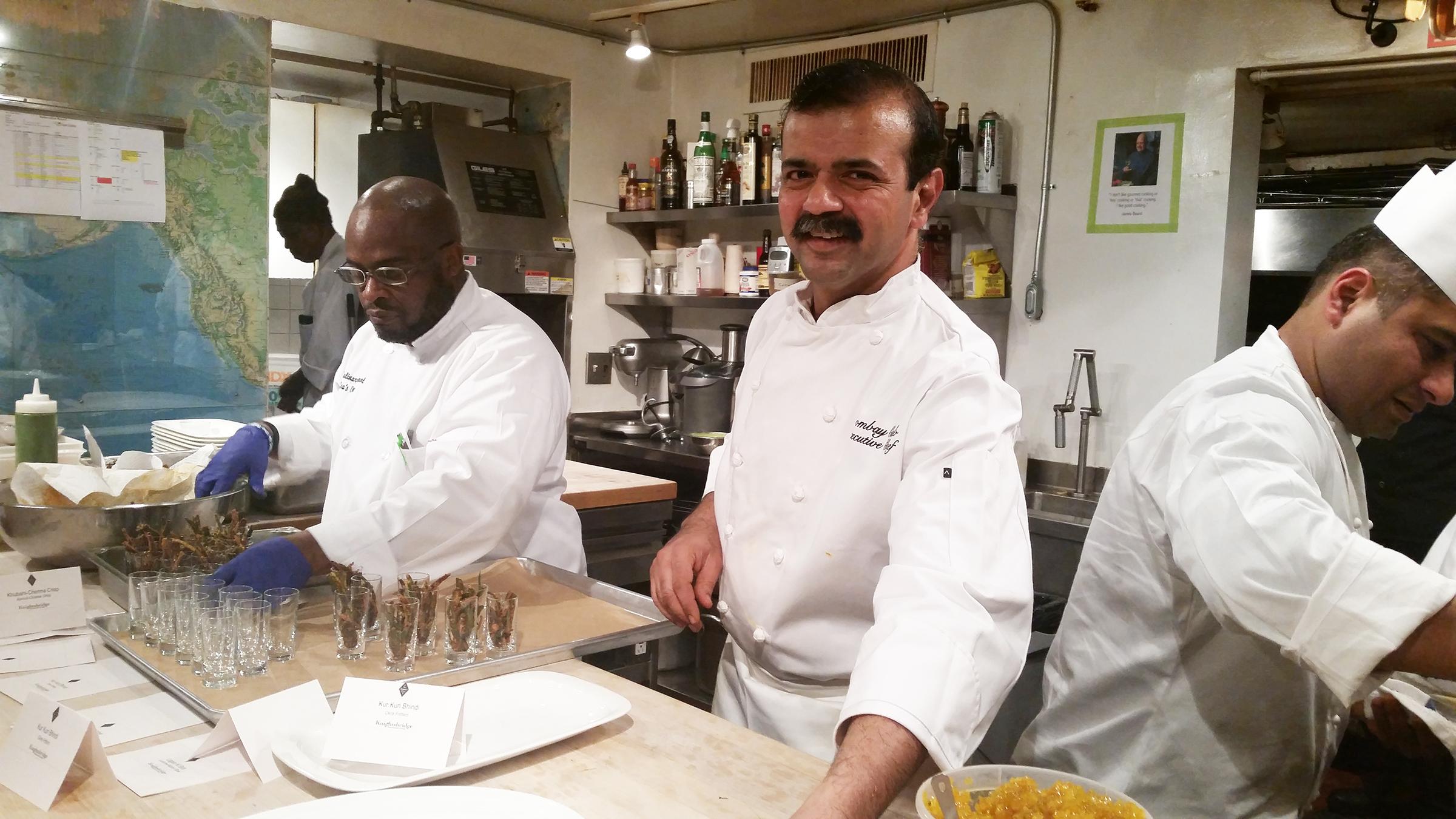 Bombay Club chef Nilesh Singhvi and team at the James Beard House