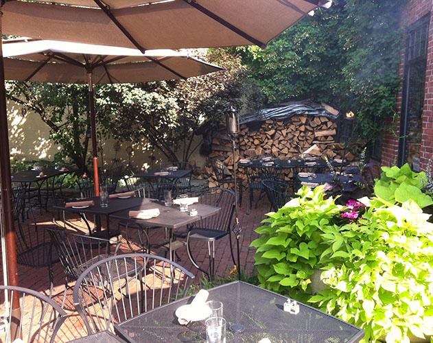 The patio at Sophia's Grotto