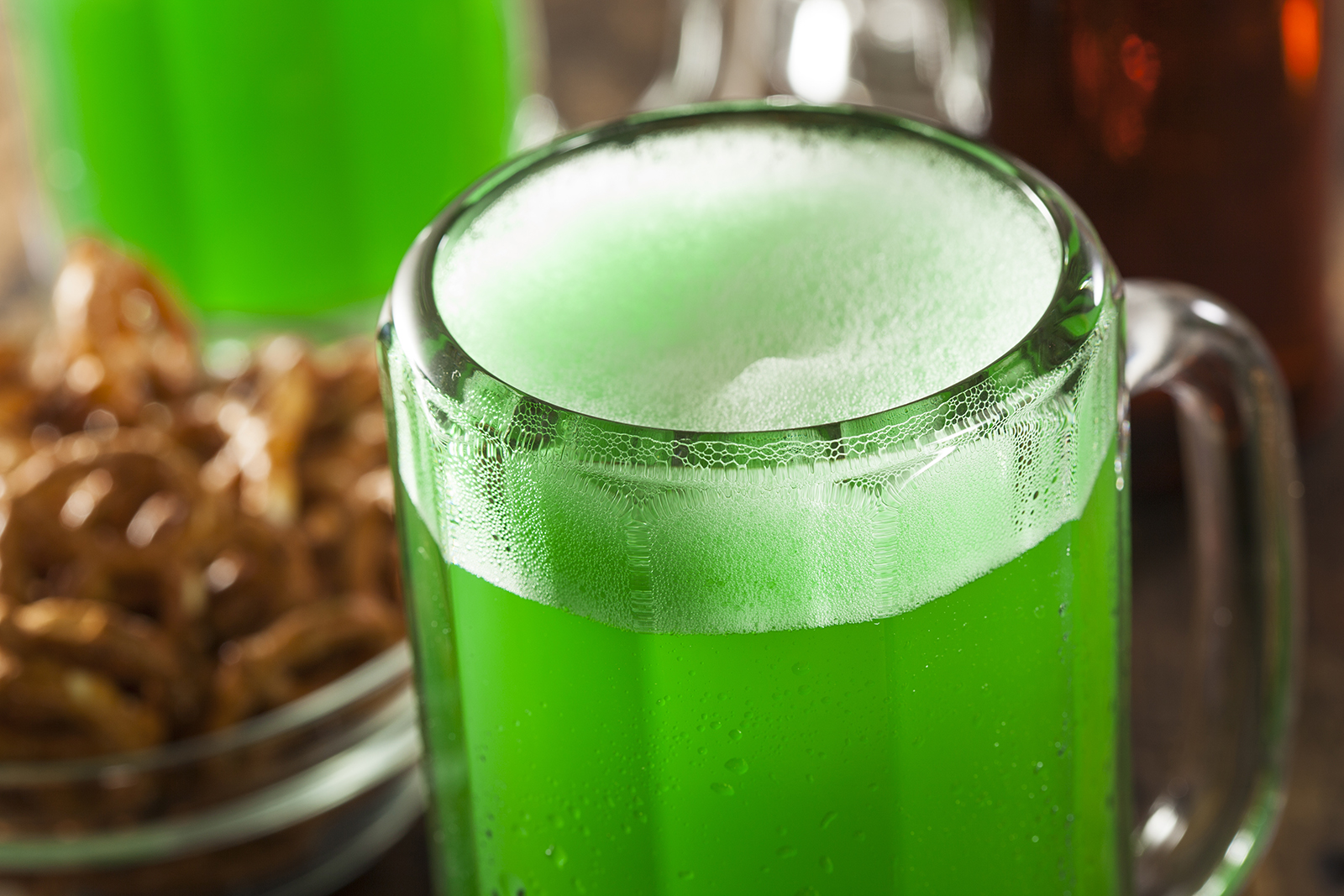 Drink some green beer to celebrate a special day.
