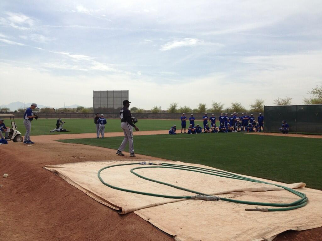 The minor league side of Camelback Ranch is much more intimate.