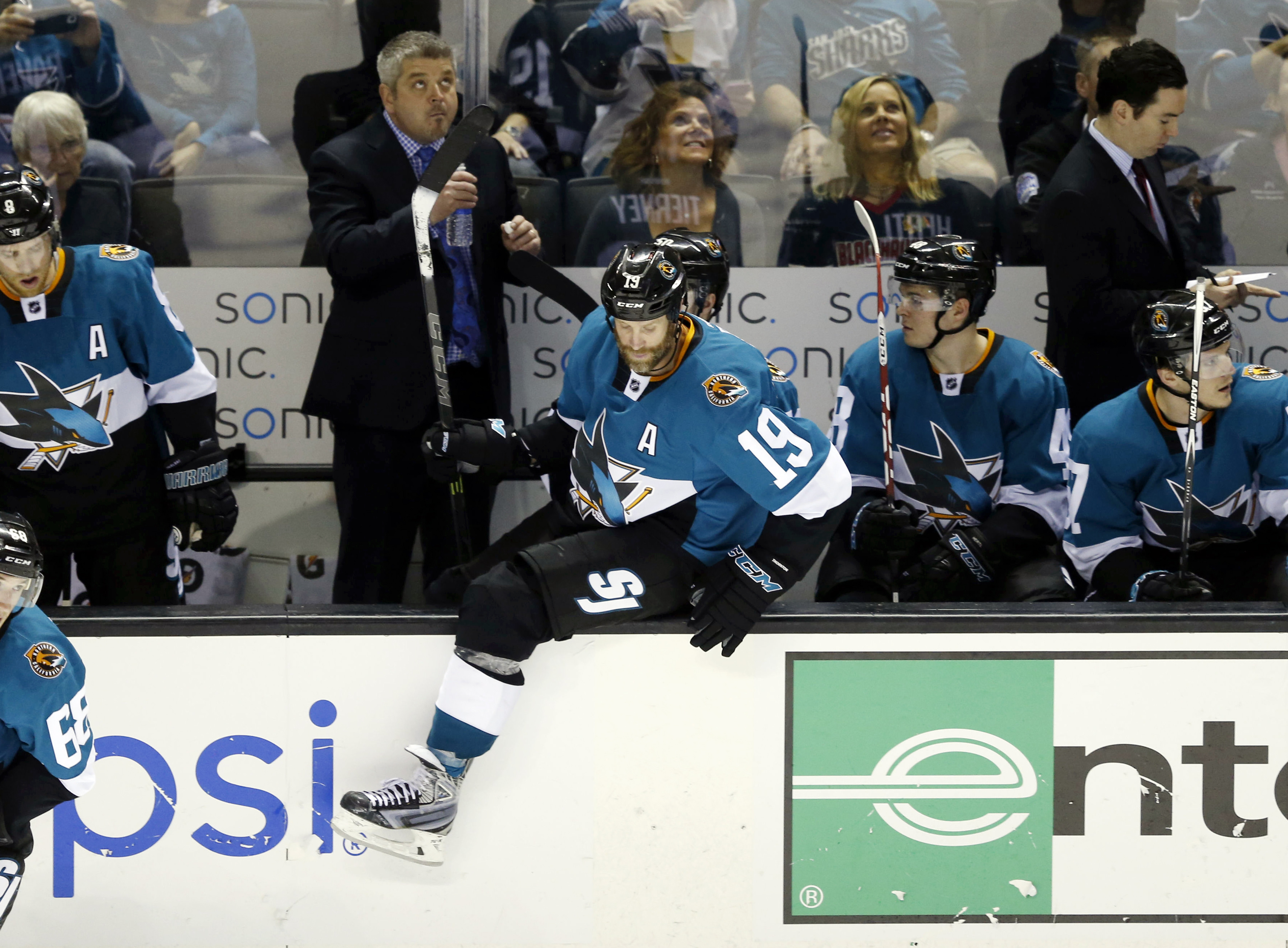 """""""everyone who won't be a Shark in six months, hop over that bench! hey wait where's Patty"""""""