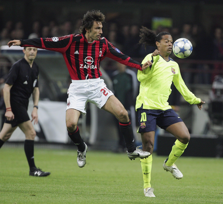 Two legends: Pirlo and Ronaldinho